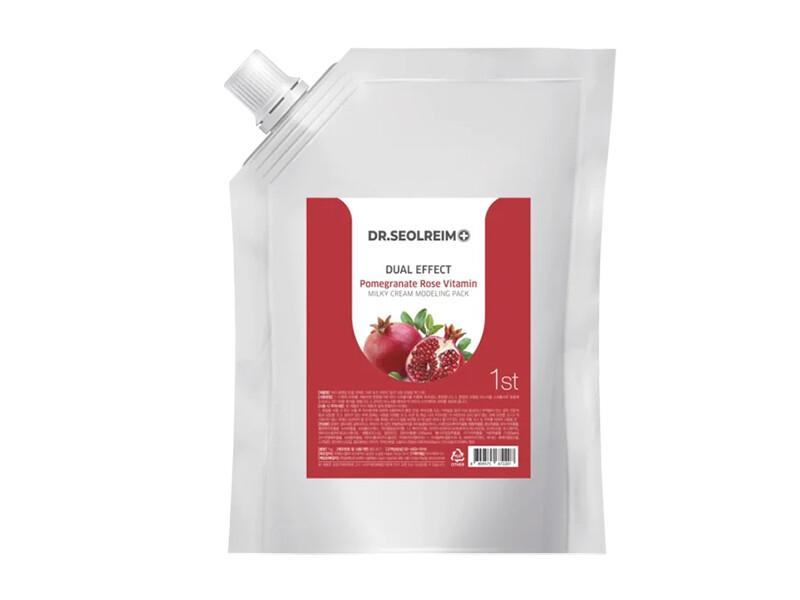 Моделирующая альгинатная маска с гранатом Dr.Seolreim Dual Effect Pomegranate Rose Vitamin Milky Cream Modeling Pack, 1 кг