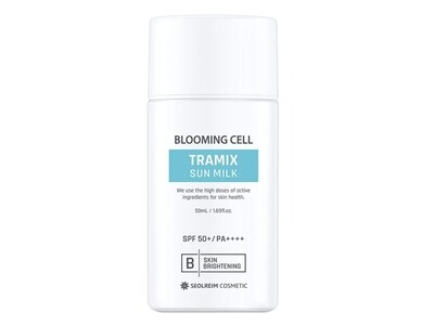 Солнцезащитное молочко SEOLREIM Blooming Cell Tramix Line SPF50+, 50 мл