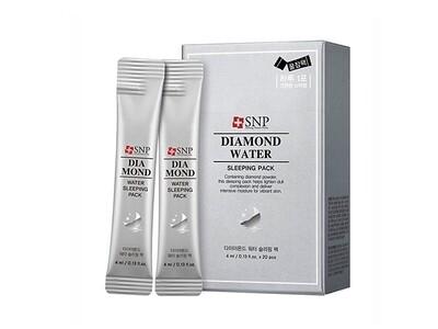 Ночная маска с бриллиантовой пудрой SNP Diamond Water Sleeping pack,  4 мл
