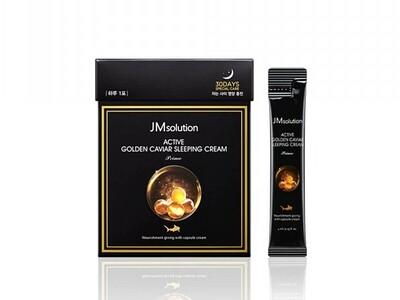 Ночная маска  с икрой JMsolution Golden caviar sleeping cream,  4 ml