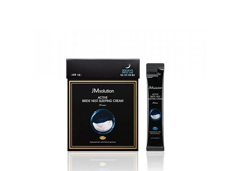 Омолаживающая ночная маска с ласточкиным гнездом JMsolution Active Birds Nest sleeping cream, 4 ml