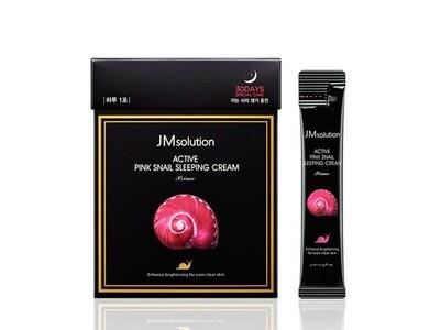 Ночная маска с розовой улиткой JMsolution Pink Snail Sleeping cream, 4 ml