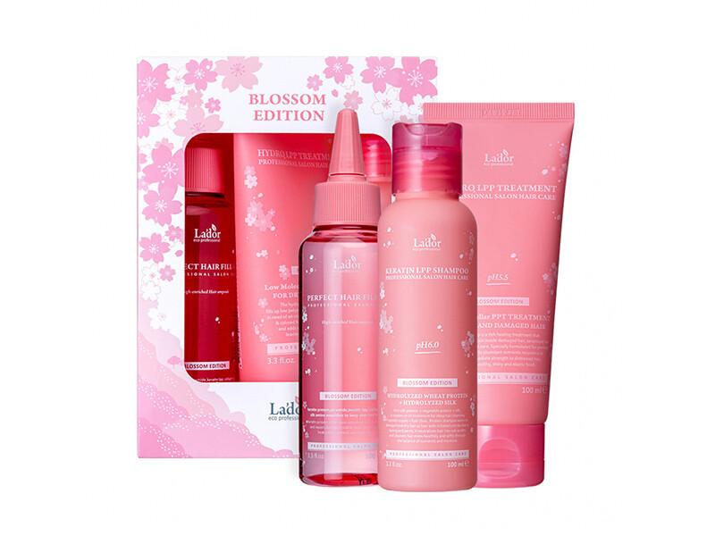 Весенний набор для волос  Lador Blossom Edition 100ml+100ml+100ml