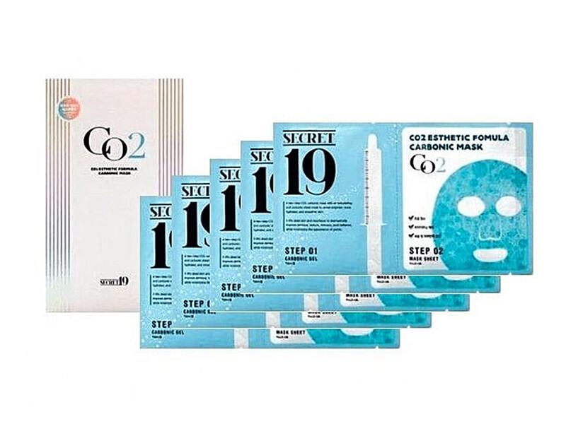 Набор для карбокситерапии Esthetic House CO2 Esthetic Formula Carbonic Mask, 5 процедур