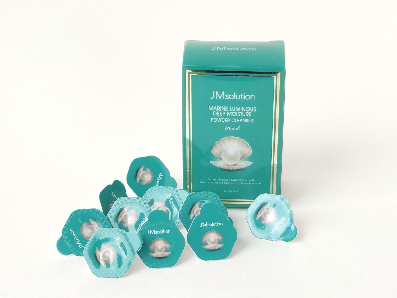 Энзимная пудра  JMsolution Marine Luminous Deep Moisture Powder Cleanser Pearl, капсула 0,35 гр, в ассортименте