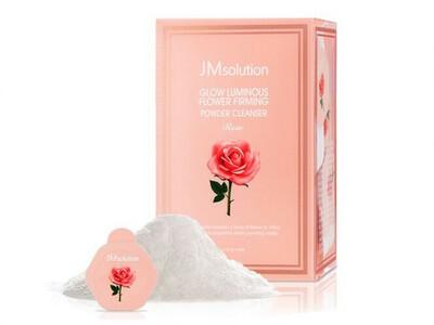 Энзимная пудра JMsolution Glow Luminious Flower Firming Powder Cleanser Rose, капсула 0,35 гр, роза