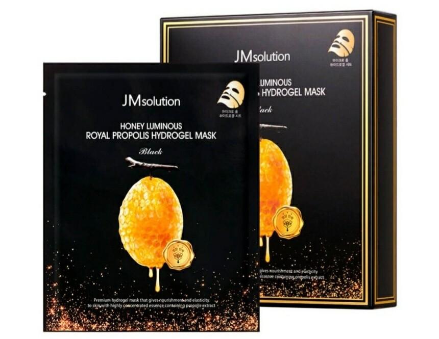 Гидрогелевая маска с прополисом JMsolution Honey Luminous Royal Propolis Hydrogel Mask Black, 30 мл