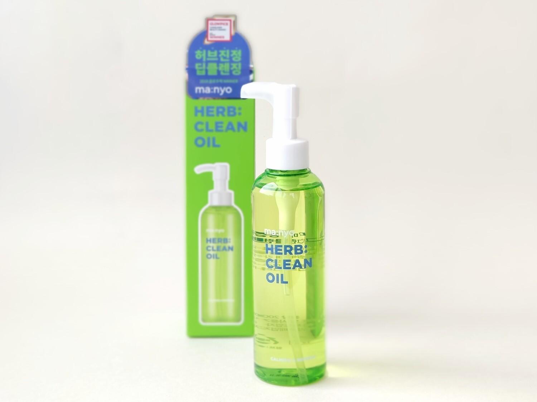 Гидрофильное масло на основе комплекса трав Manyo Herb Green Cleansing Oil, 200 мл.