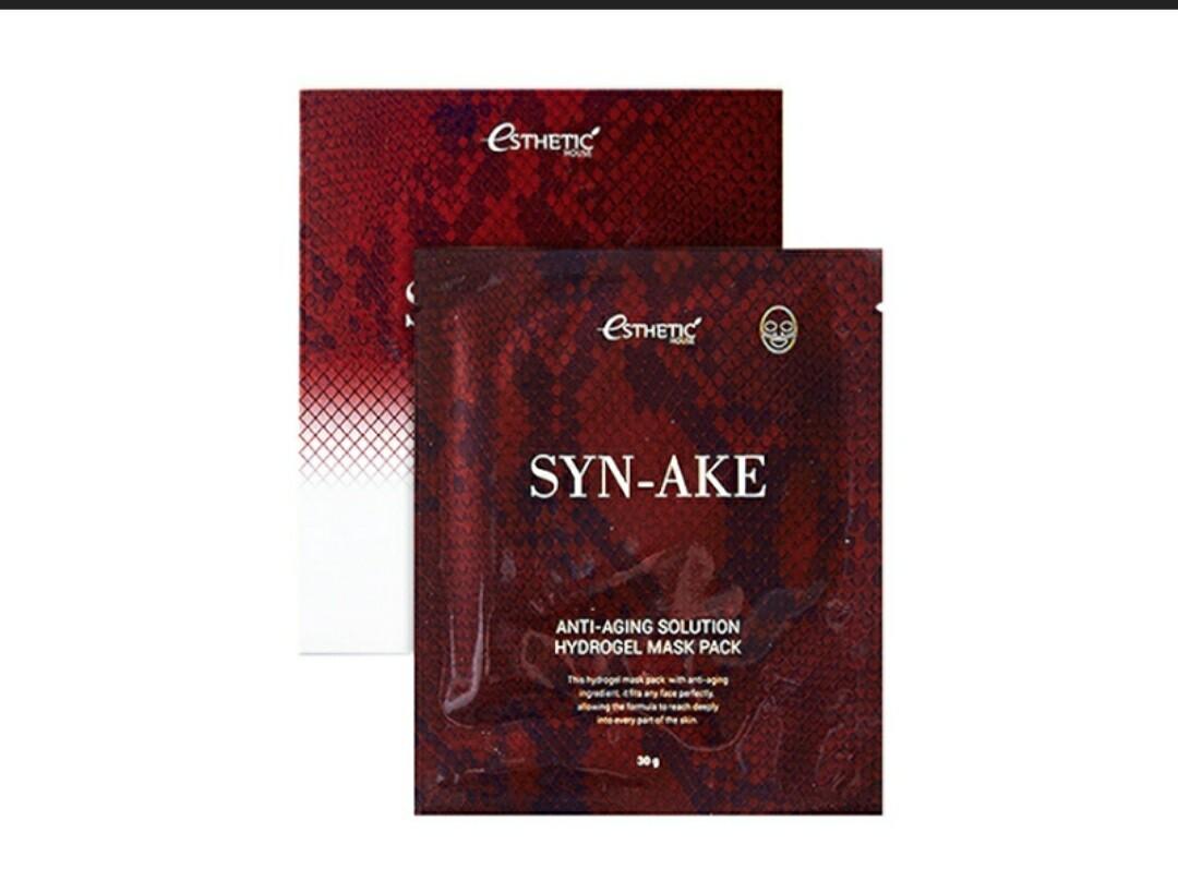Гидрогелевая маска Esthetic House Syn-Ake Anti-Aging Solution Hydrogel Mask Pack, 28 гр.