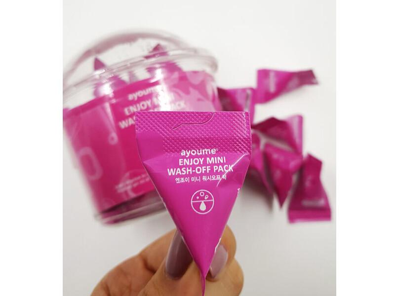 Успокаивающая маска для лица с каламином Ayoume Enjoy Mini Wash Off Pack, саше 3 мл