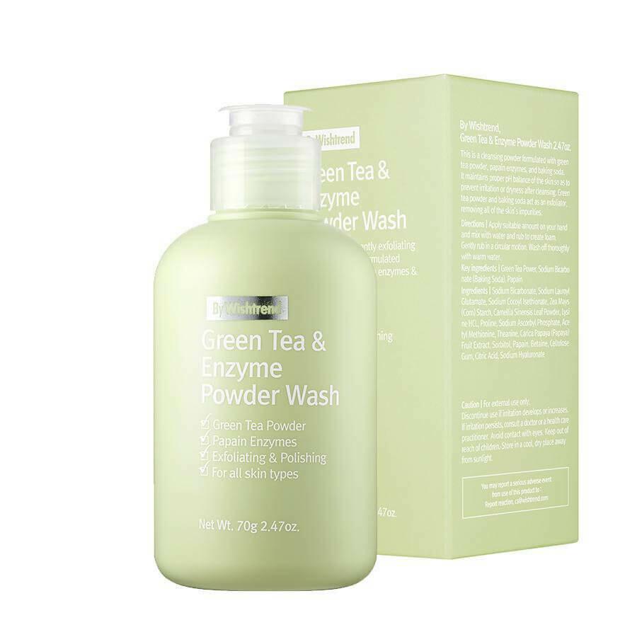 Энзимная пудра с зелёным чаем By Wishtrend Green Tea & Enzyme Powder Wash, 80 гр