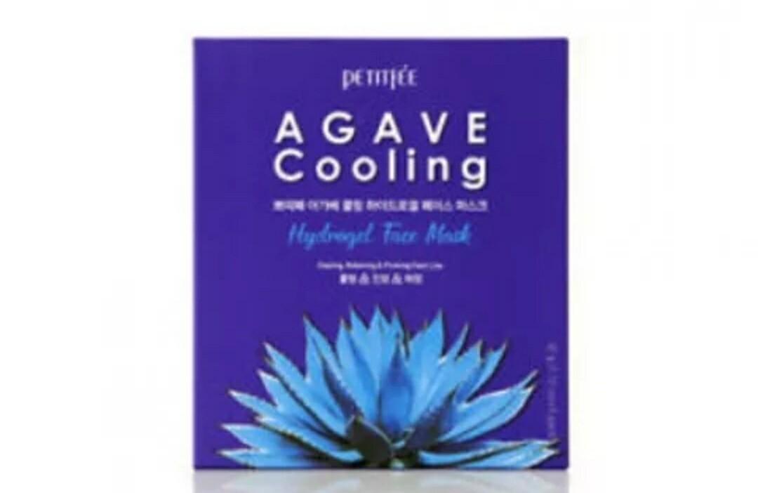 Гидрогелевая маска с экстрактом агавы Petitfee Agave Cooling Hydrogel Face Mask, 30 гр.