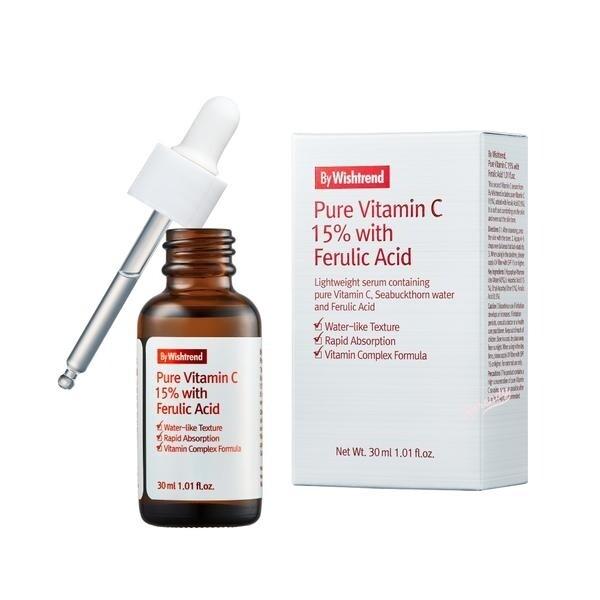 Сыворотка для лица концентрат с витамином С и феруловой кислотой By Wishtrend Pure Vitamin C 15% with Ferulic Acid, 30 мл.