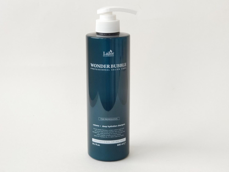 Увлажняющий шампунь для объёма и гладкости волос Lador Wonder Bubble, 600 мл.