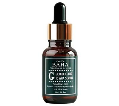 Пилинг- сыворотка c гликолевой кислотой для проблемной кожи Cos De Baha Glycolic Acid 10 AHA Serum, 30 мл.