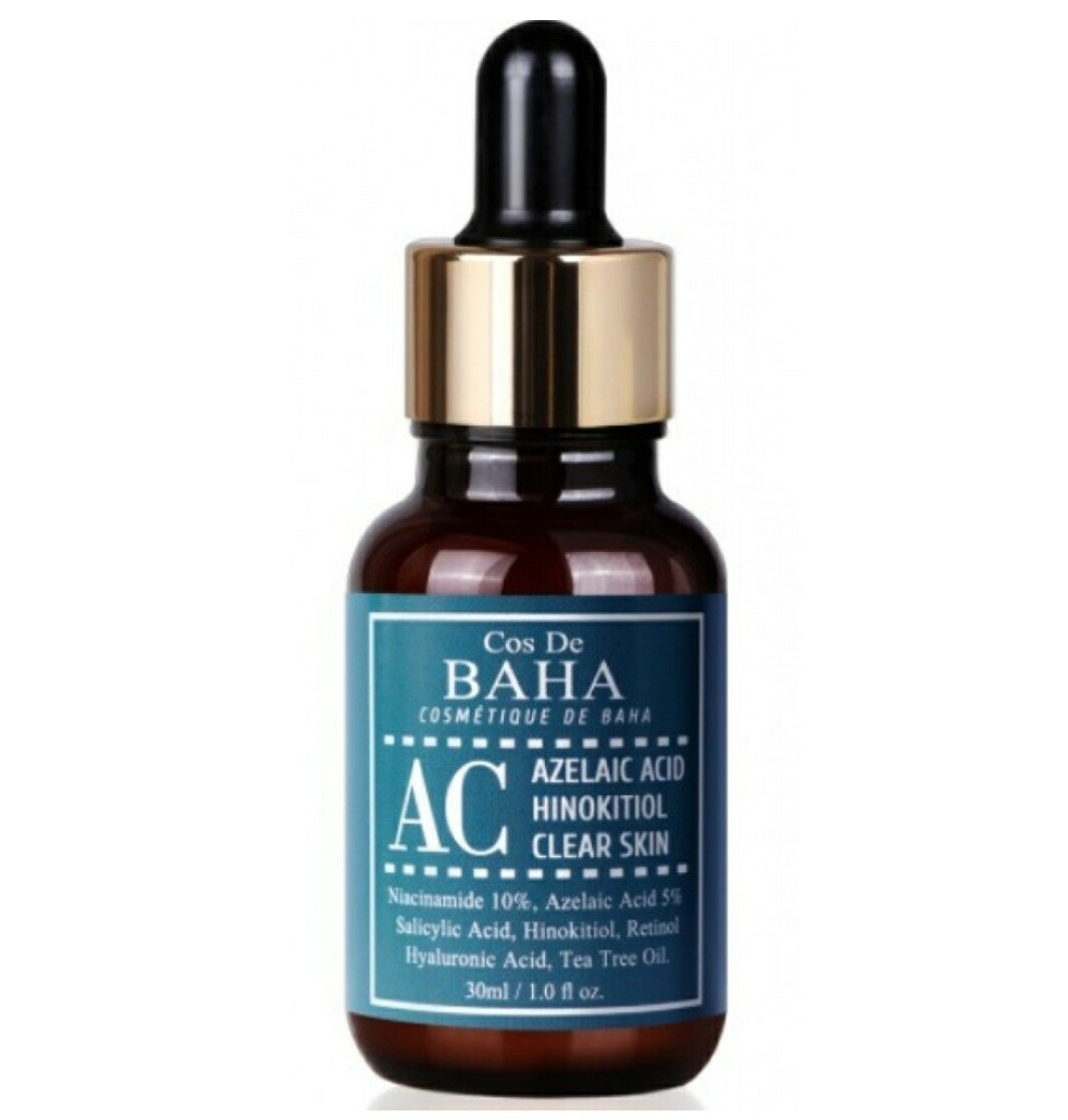 Сыворотка от акне с Азелаиновой кислотой COS DE BAHA Azelaic Acid Hinokitiol Clear Skin Serum, 30 мл.