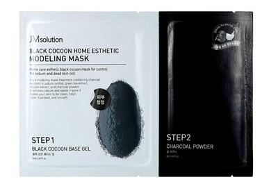 Моделирующая альгинатная маска с протеинами шелкопряда и углем JMsolution Black Cocoon Home Esthetic Modeling Mask, 55 мл.