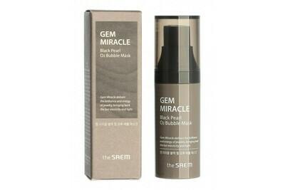 Маска кислородная с экстрактом жемчуга The Saem Gem Miracle Black Pearl O2 Bubble Mask, 10 гр.