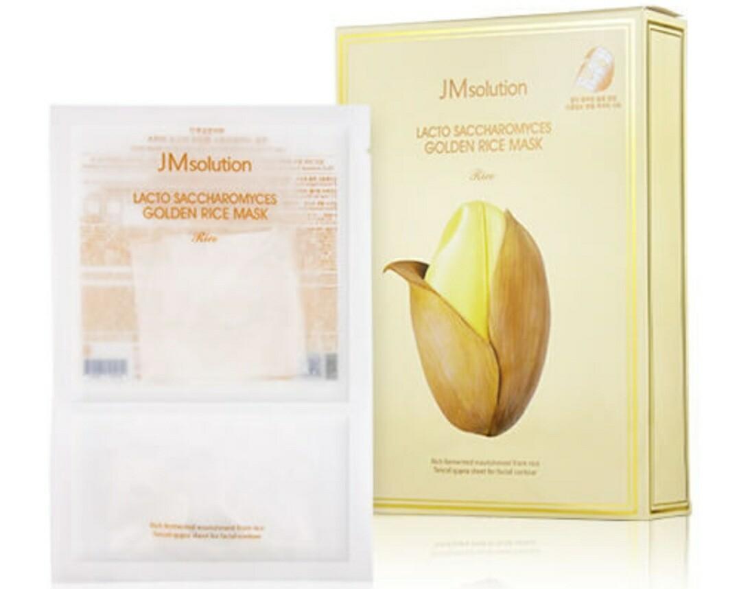 Маска для выравнивания тона с лактобактериями JMsolution Lacto Saccharomyces Golden Rice Mask,  30 мл.