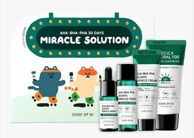 Набор для проблемной кожи с AHA/BHA/PHA кислотамиSome By Mi Miracle Solution, 4 средства