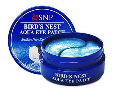 Омолаживающие гидрогелевые патчи с ласточкиным гнездом SNP Bird's Nest Aqua Eye Patch, 60 шт.