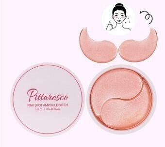 Омолаживающие гидрогелевые патчи для глаз Pittoresco Pink Spot Ampoule Patch, 60 шт