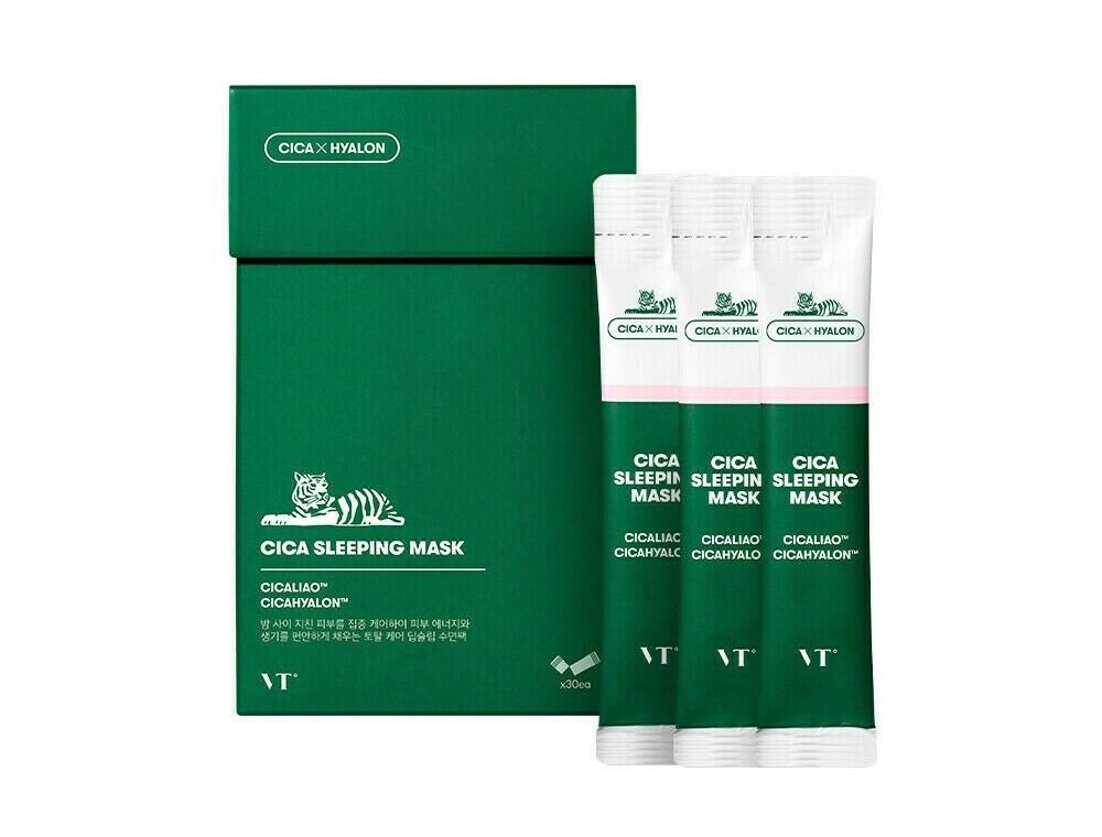 Успокаивающая ночная маска с центеллой VT Cosmetics Cica Sleeping Mask, 4мл