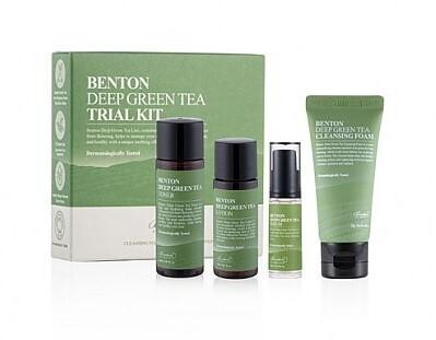 Набор миниатюр на основе экстракта зеленого чая Benton Deep Green Tea Trial Kit, 4 средства