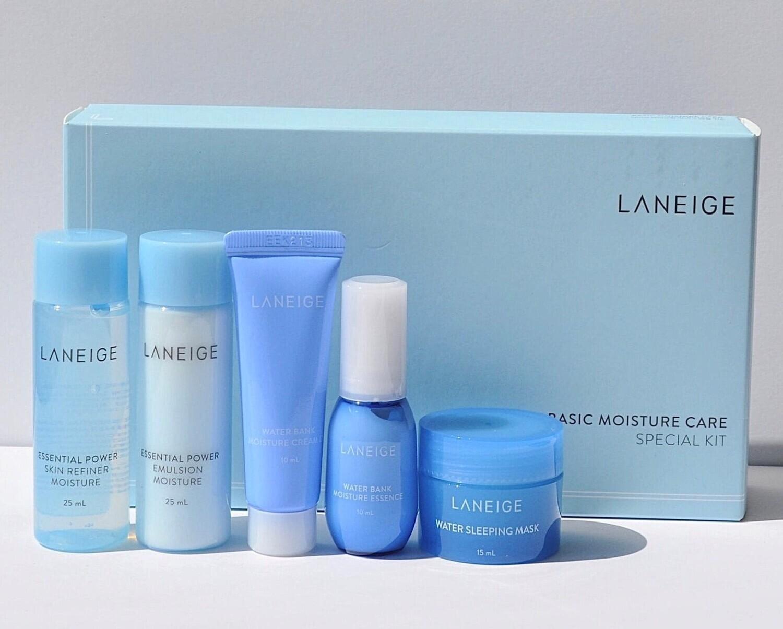 Набор миниатюр для интенсивного увлажнения Laneige Basic Moisture Care Special Kit, 5 средств