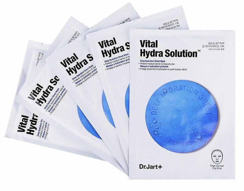 Ультраувлажняющая тканевая маска DrJart+ Vital Hydra Solution, набор 5шт*25 мл