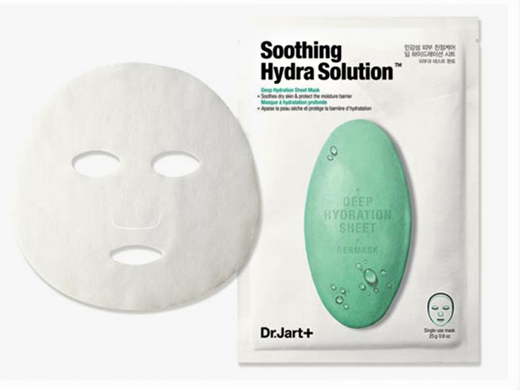 Успокаивающая тканевая маска с алоэDr.Jart+Soothing Hydra Solution, 25 мл, 1 шт.