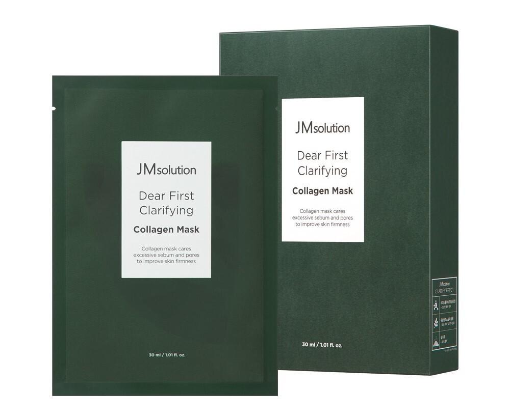 Тканевая маска с коллагеном JMsolution Dear First Clarifying Collagen Mask,30 мл.