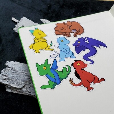 Scaley Stickers (Pack of 6)