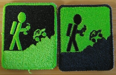 Black and Neon Green Patch