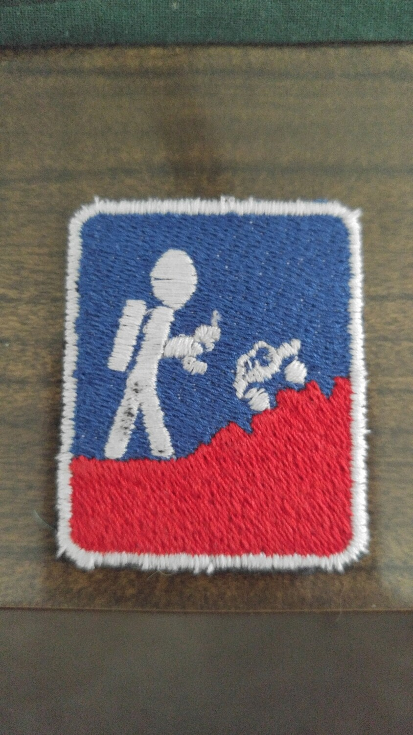 Red , White and Blue Patch
