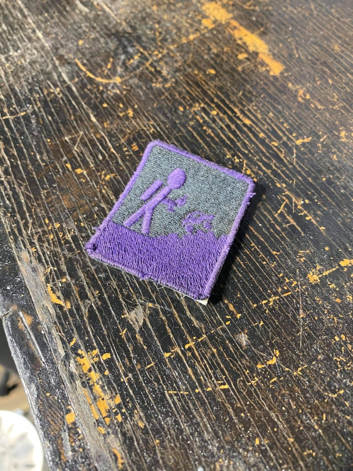 Black and Purple Patch