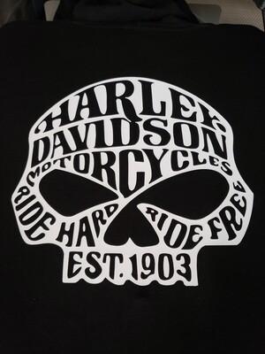 Harley Davidson willy G skull t shirt