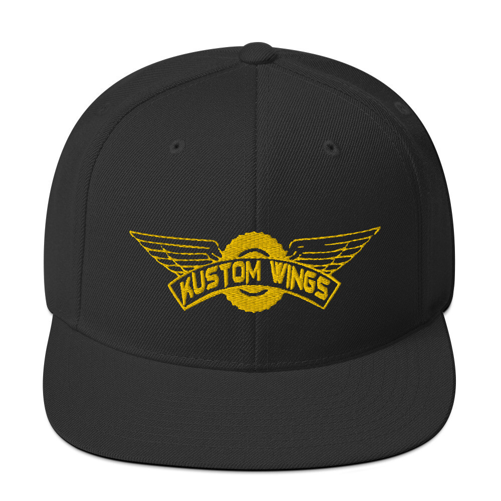 Kustom Wings Classic Snapback Gold logo