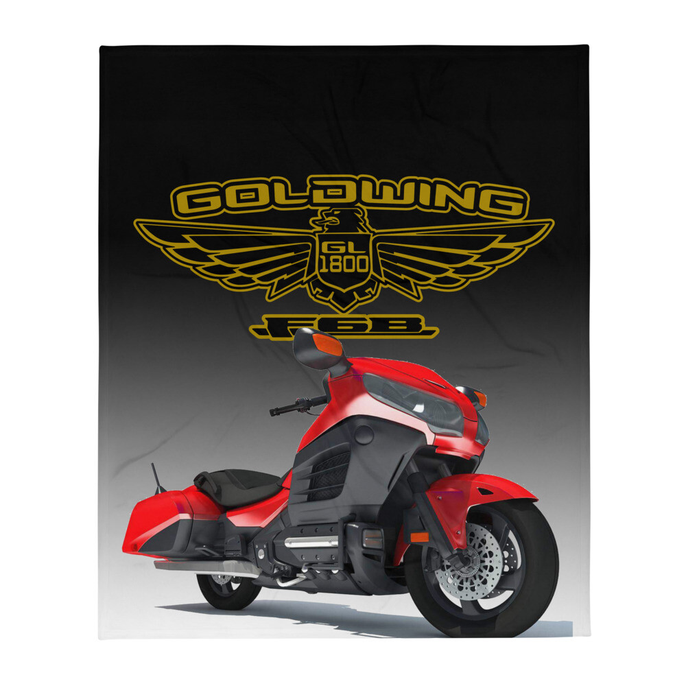 Red Goldwing F6B Throw Blanket