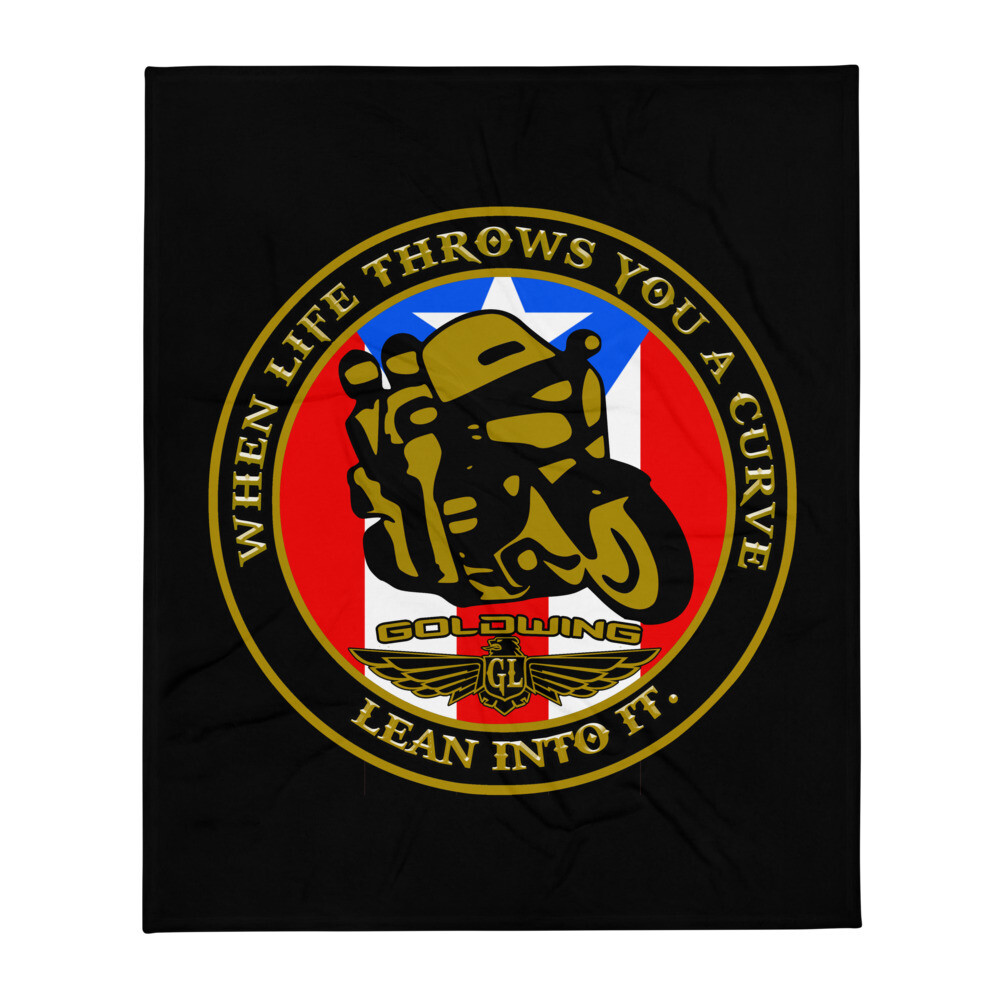 Puerto Rico Goldwing Throw Blanket