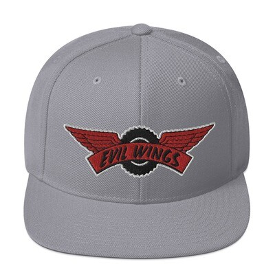Evil wings Snapback Hat (White Trim Logo)