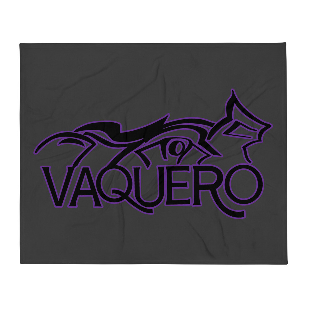 Vaquero Throw Blanket Purple/Gray