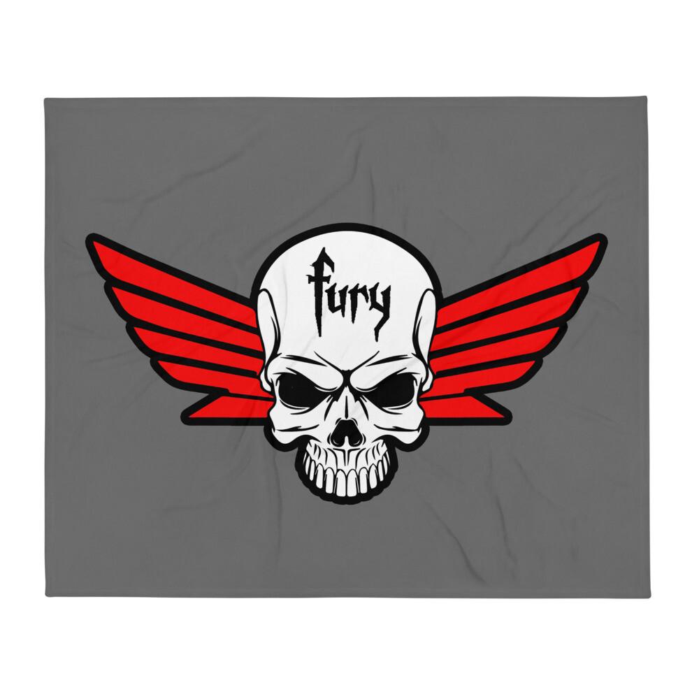 Fury Throw Blanket gray