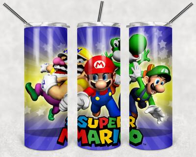 Super Mario Bundle Tumbler templates