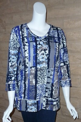RELAXED 3/4 SLV CUFFED TUNIC