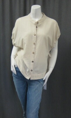 CRINKLE COTTON BUTTON TOP