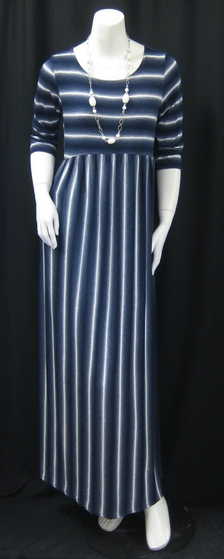 JERSEY STRIPE MAXI DRESS