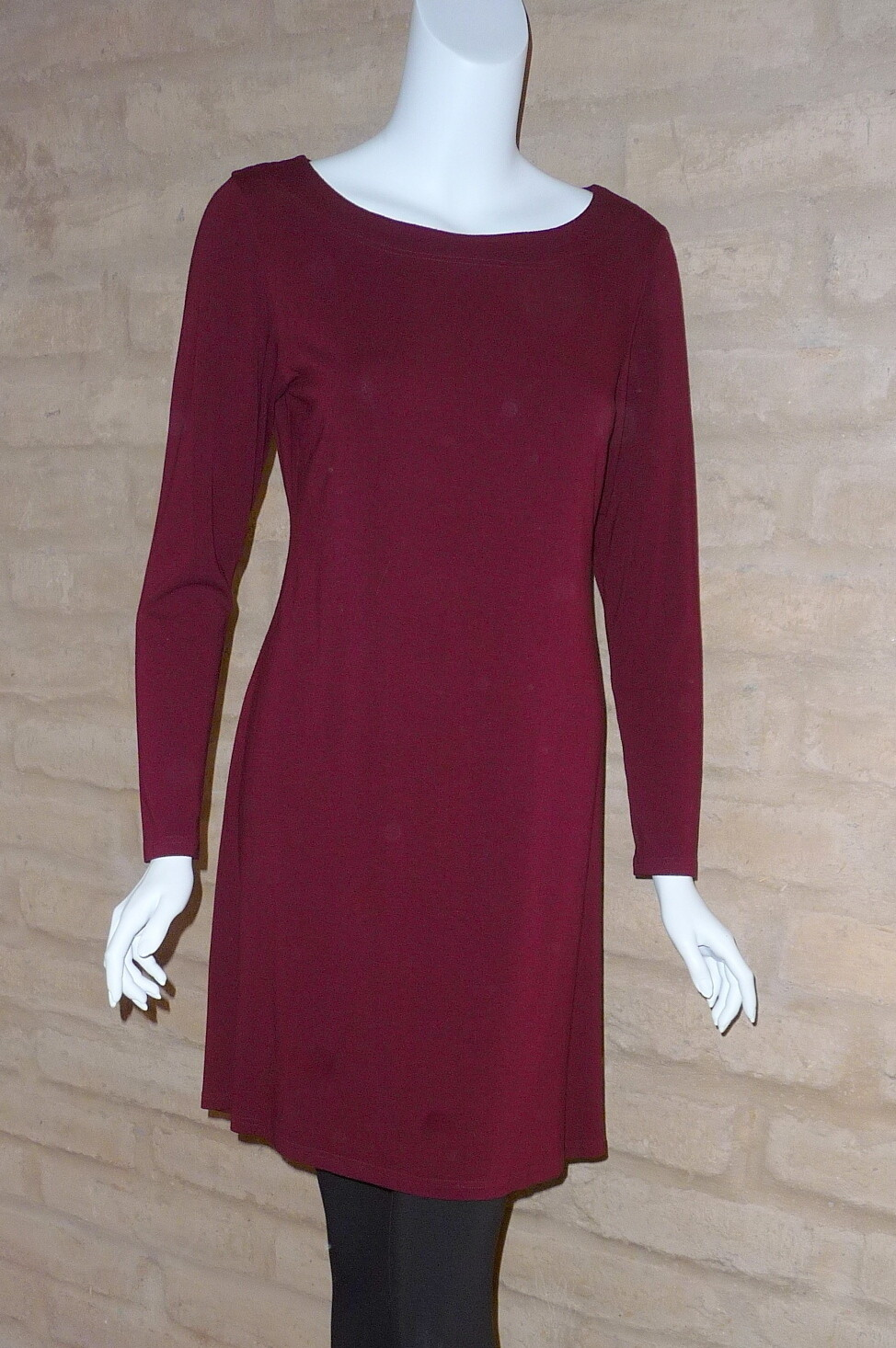 RAYON JERSEY L/S TUNIC DRESS