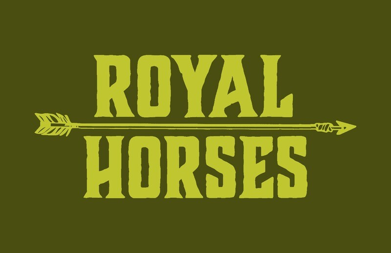 Royal Horses olive t-shirt