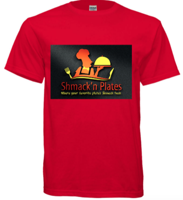 (RED) Shmack'n Plates T-shirt